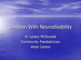 Children with Neurodisability