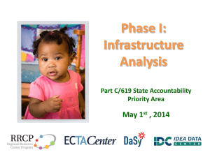 (SSIP) Infrastructure Analysis - The Early Childhood Technical
