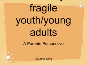 Transition for medically fragile youth/young adults - Criss