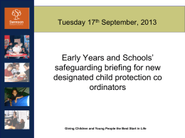 New DCPC Briefing September 2013
