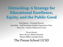 A Strategy for Educational Excellence, Equity and the Public Good