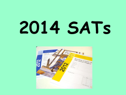 What are SATs? How SATs fits in to assessment in school