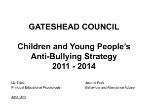 CYP Anti-Bullying Strategy power point