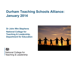 to - Durham Teaching School Alliance