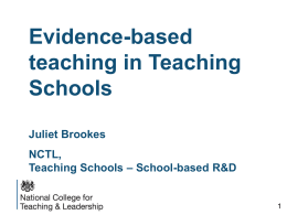 Juliet Brookes disc Mtg presentation 27th May 2014 updated for