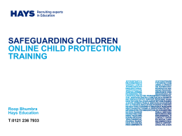 why we have developed a safeguarding & child protection