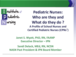 PowerTemplate - Institute of Pediatric Nursing