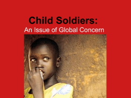 Child Soldiers - Friends Seminary