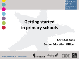 Getting started in primary schools