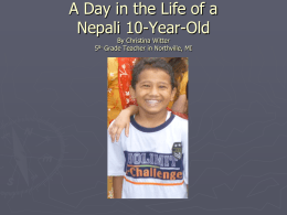 A Day in the Life of a Nepali 10-Year