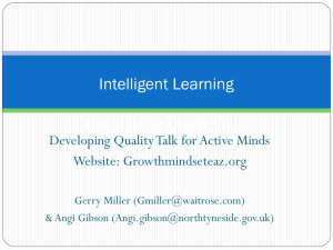 Keynote: Intelligent Learning - Growth Mindset Education Action Zone