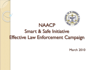 NAACP Effective Law Enforcement Campaign