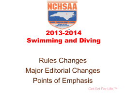 Reminders - North Carolina High School Athletic Association