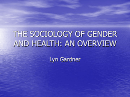 Gender and health (pre
