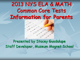ELA Exam Information for Parents