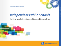 Independent public schools consultation