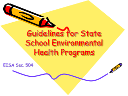 State Environmental Health Guidelines for Schools