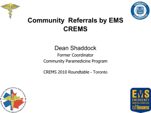 Community Referrals by EMS CREMS