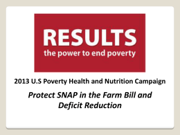 2013 Nutrition Campaign PowerPoint