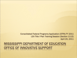 Instructional Prompt - Mississippi Department of Education