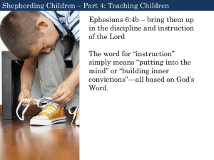 Shepherding Children - Bethany Community Church