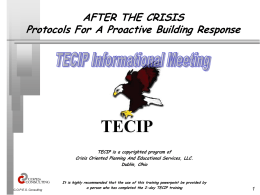 """After the Crisis"" Informational Meeting"