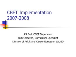 CBET Implementation