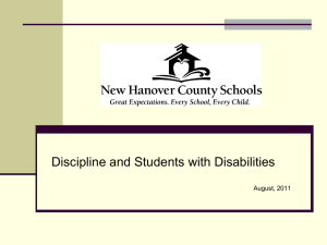 Discipline and Students with Disabilities