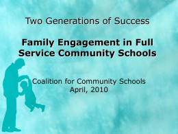 Family Engagement - Coalition for Community Schools