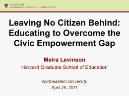 The Civic Achievement Gap
