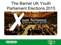 Barnet UK Youth Parliament Elections 2015