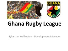Ghana rugby league presentation - International Platform on Sport
