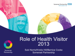 The role of the Health Visitor - Somerset children & young people
