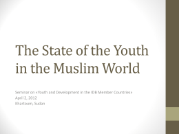 Youth and Development in the IDB Member Countries