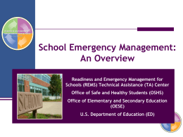 REMS Emergency Management Powerpoint Overview