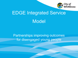 Partnerships improving outcomes for disengaged young people