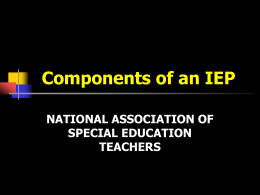 Components of an IEP - National Association of Special Education
