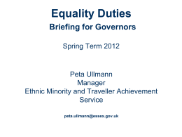 Equality Act - briefing for governors (by Peta Ullman)