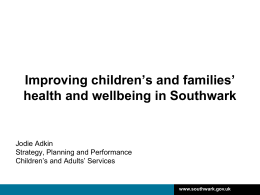 health & wellbeing - Community Action Southwark