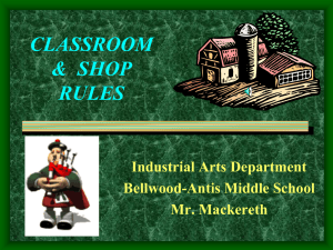 classroom rules & regulations - Bellwood Antis School District