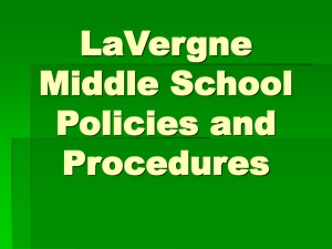 LMS Mission Statement - LaVergne Middle School