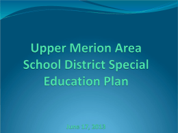 UMASD Special Education Plan 6-17-2013