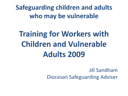 Safeguarding children and adults who may be vulnerable Training