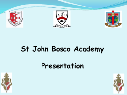 Introduction Presentation - Bishop Milner Catholic College
