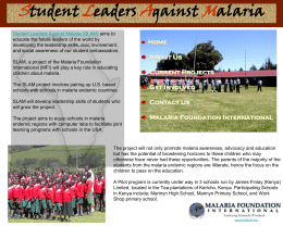 PowerPoint Presentation - Student Leaders Against Malaria