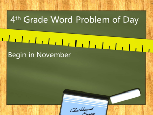 Word Problem of the Day PPT