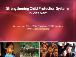 Le Hong Loan, Chief of Child Protection
