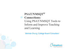 PSAT SOAS Report Workshop Power Point