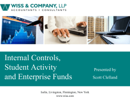 Internal Controls, Student Activity and Enterprise Funds