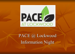 PACE @ Lockwood - PACE at Lockwood Elementary